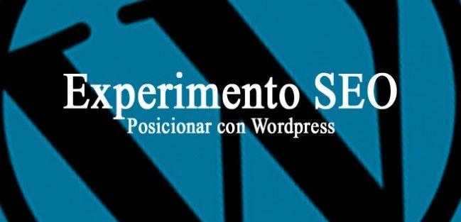 experimento seo para posicionar con wordpress